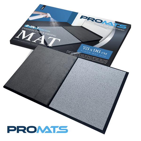 PROMATS 2-in-1 Disinfecting and Drying Mat (73 x 96 cm)