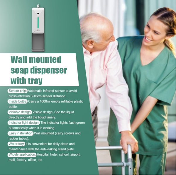 Wall Mounted Sanitizer Dispenser with Tray