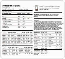 Load image into Gallery viewer, Quick Grow VEGAN Chocolate Hair Shake Nutrition Facts @ Salon 33 Hair Co