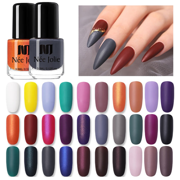 NEE JOLIE Matte Effetc Nail Polish 33  Colors Nail Polish Red Gray Nail Art Oily Polish Varnish  DIY Nail Art varnish