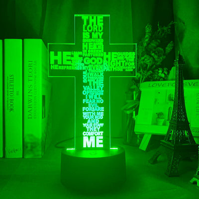 Psalm 23 LED Light Lamp