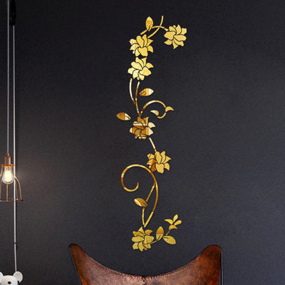 DIY Flower Wall Mirror Decal - Urban Decor Outlet