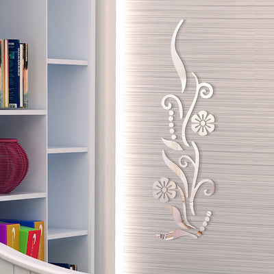 DIY Lily Mirror Wall Decal - Urban Decor Outlet