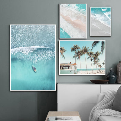 Ocean Waves Overhead Print - Urban Decor Outlet