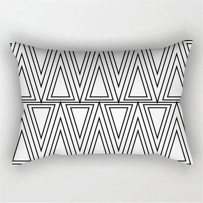 Black & White Geometric Collection- PillowCover - Urban Decor Outlet