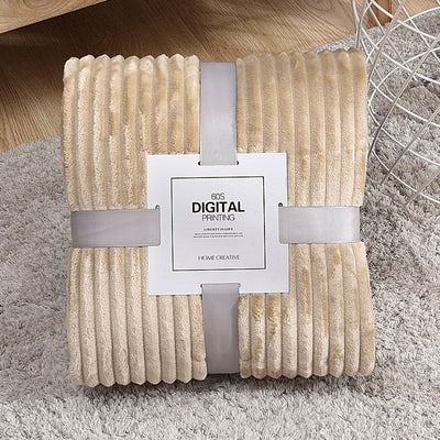 Solid Striped Digital Throw Blanket - Urban Decor Outlet