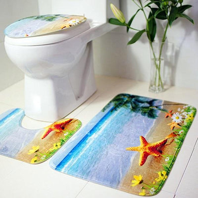 3 pieces set Bathroom Mat - Urban Decor Outlet