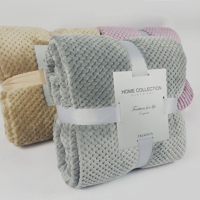 Waffle Throw Blanket - Urban Decor Outlet