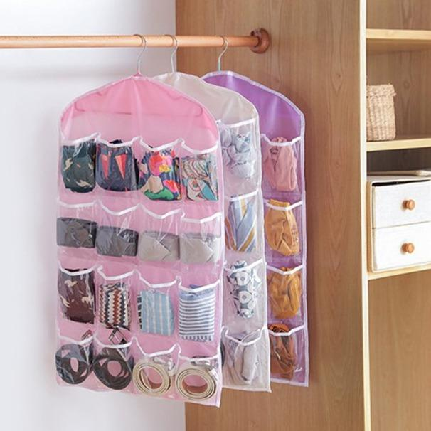 16 Pocket Wardrobe Organizer - Urban Decor Outlet