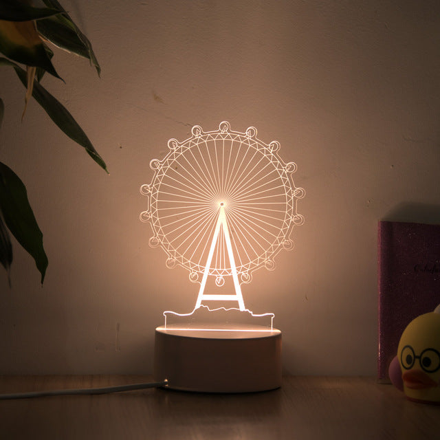 LED Night Light Illusion Lamp - Urban Decor Outlet