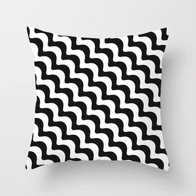Black and White Throw PillowCover - Urban Decor Outlet