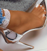 Crystal Pointed Toe Party Heels