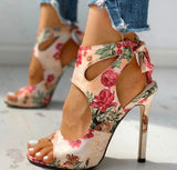 Sexy Ankle Tie High Heel Sandals