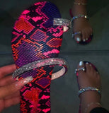 Rhinestone Multicolor Slippers