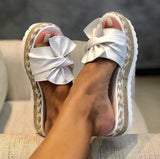 Bow Platform Slippers