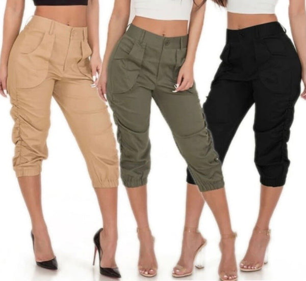 Casual Capri Pocket Pants