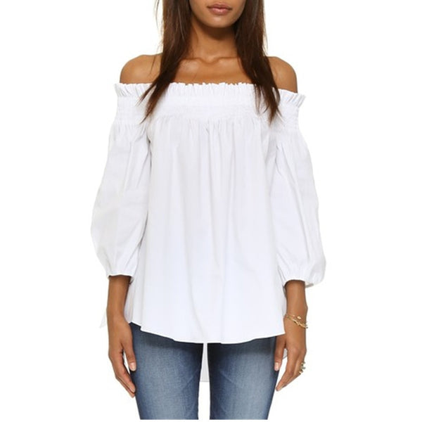 Off The Shoulder Slash Neck Blouse