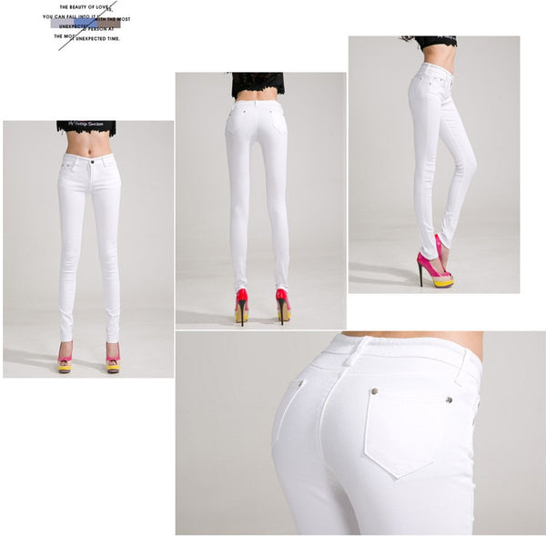 Multi Color Denim Stretch Pants