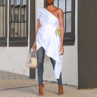One Arm Off The Shoulder Tunic