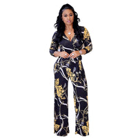 Floral Wide Leg Casual Jumpsuit