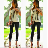 Off The Shoulder Casual T-Shirt