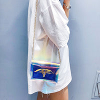 Transparent  Crossbody Messenger Bag