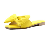 Open Toe Bow-Knot Slides