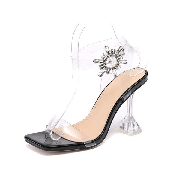 Sexy Transparent Crystal Sandals