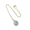 blue chalcedony necklace