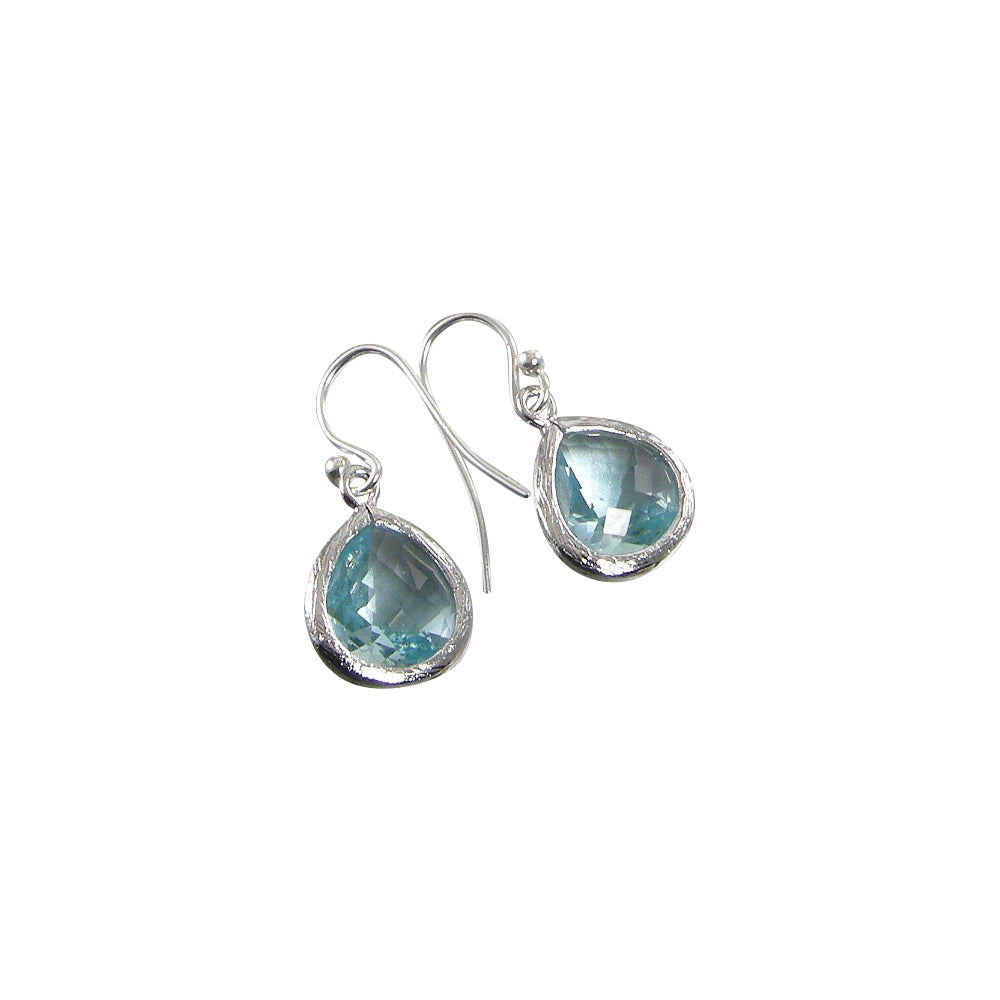 light blue crystal teardrop earrings