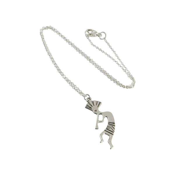 Antique Silver Kokopelli Necklace, Native American Necklace
