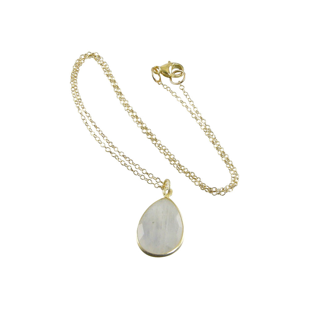 gold moonstone necklace