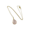 gold rose quartz necklace