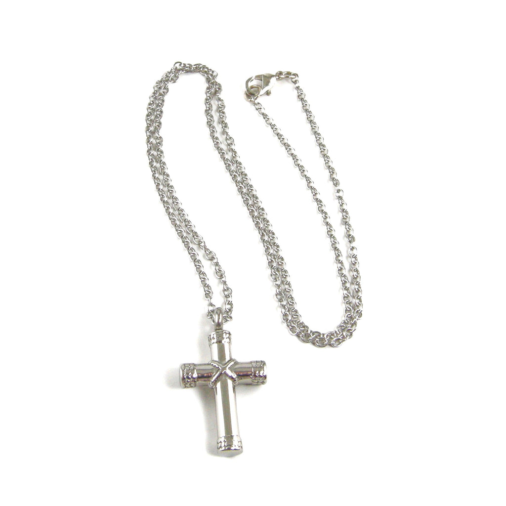 cross cremation urn necklace