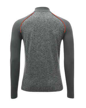 Junior Player Match Day 1/4 Zip Drill Top - Grey/Orange