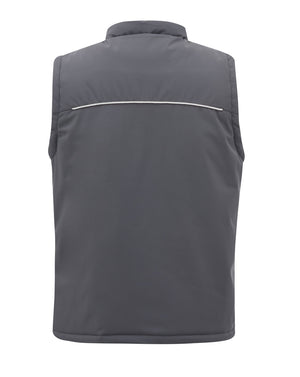 Mens Coaches Match Day Padded Gilet - Grey