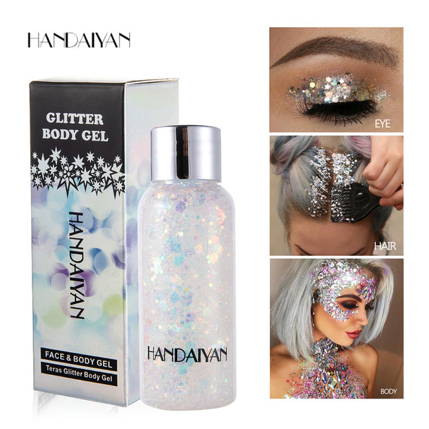 Mermaid scales face and body glitter cream - showemakeup