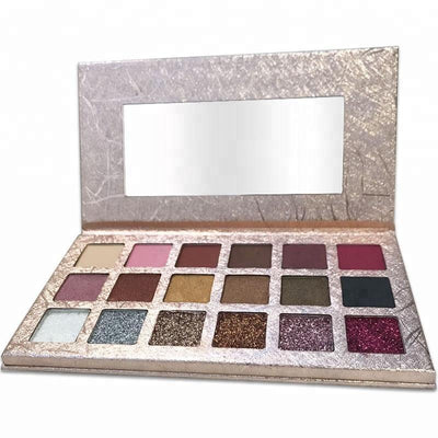 18 Colors Gold Eyeshadow Palette - showemakeup