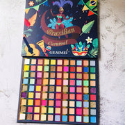 99 colors Brazilian style eyeshadow palette - showemakeup
