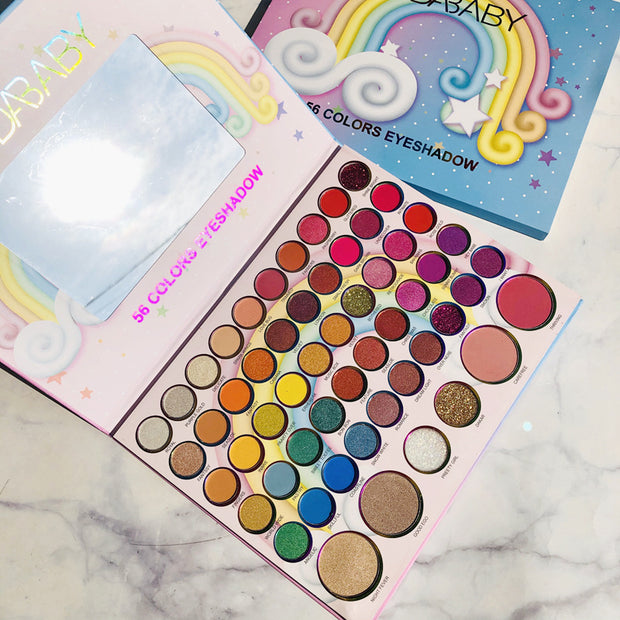 99 colors highlight eyeshadow palette 2 in 1 - showemakeup