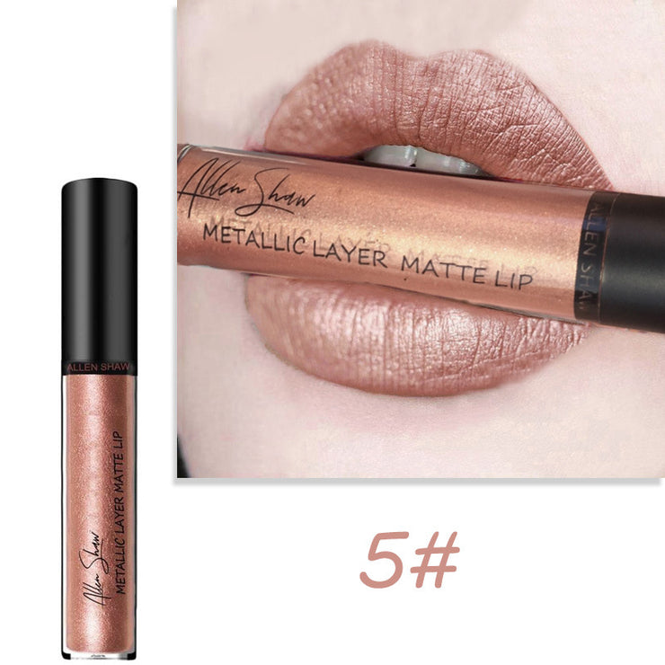 Metallic matte lip gloss - showemakeup