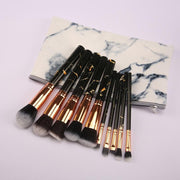 10pcs marble brushes(with bag) - showemakeup