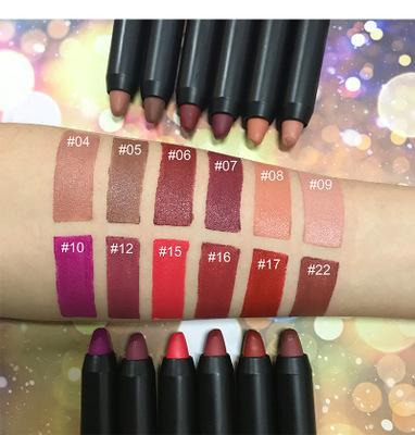 12 Colors Crayon Lipsticks - showemakeup