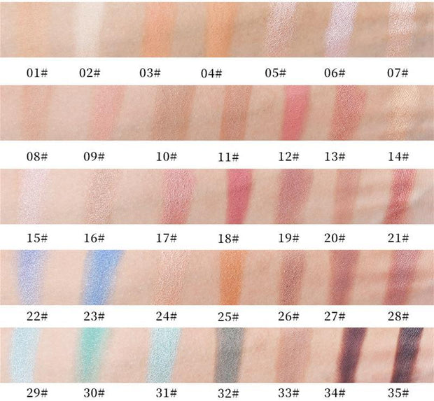 35 Colors  silver Eyeshadow Palette - showemakeup