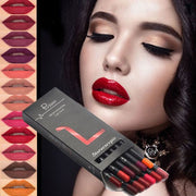 12 COLORS LIP LINER PENCIL WATERPROOF NON-MARKING - showemakeup