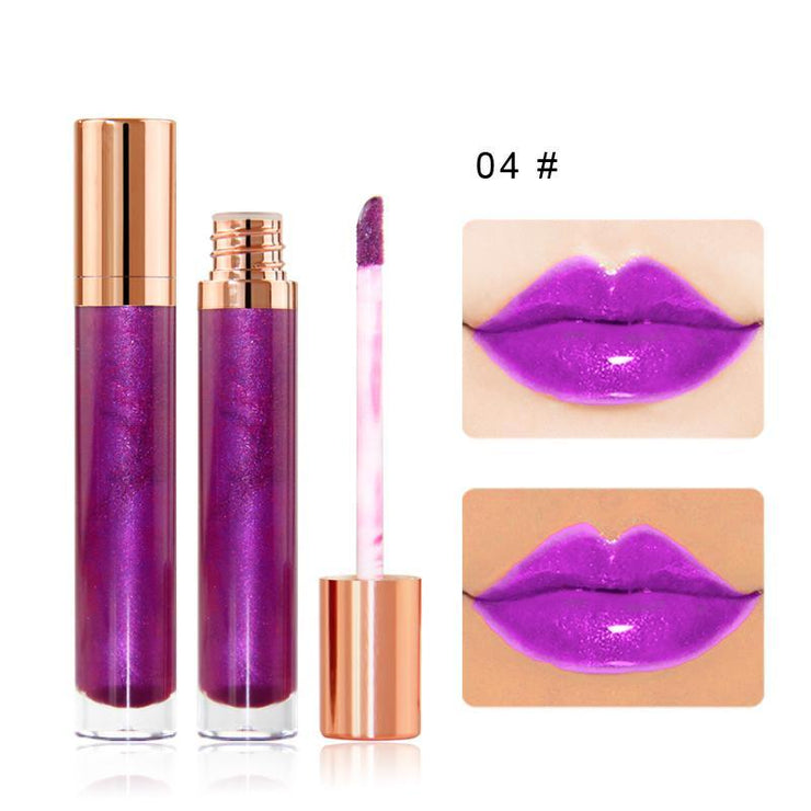 7 Colors Gold Lid Round Tube  Lip Glosses - showemakeup