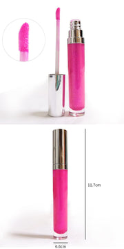 15 Colors Rose Gold Lid Round Tube Lip Glosses - showemakeup