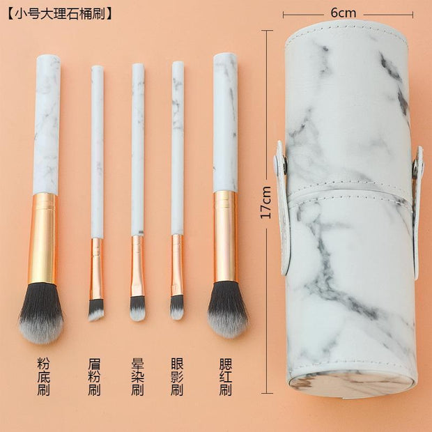 10pcs marble brushes (with holder) - showemakeup