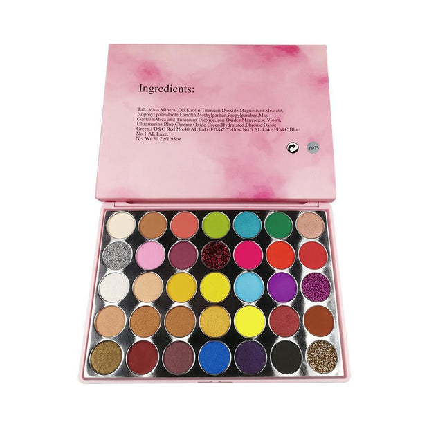 (Limit discounts)35 color eyeshadow palette-eye - showemakeup