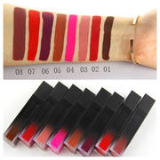 8 Color Gradient Square Tube Lip Soft Matte - showemakeup
